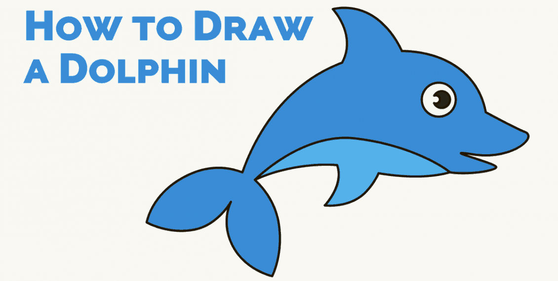 How to Draw a Dolphin in Cartoon Style