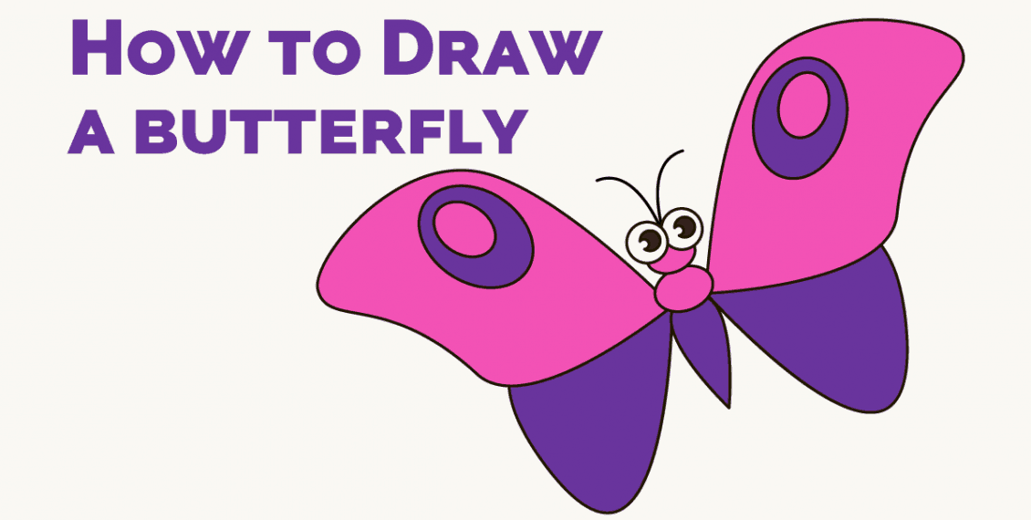 How to Draw a Butterfly in Cartoon Style