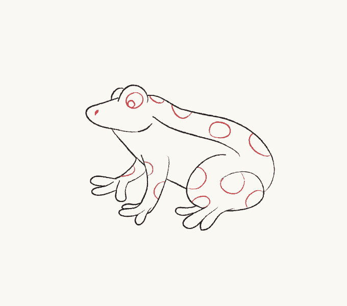 How to Draw Frog: Step 6