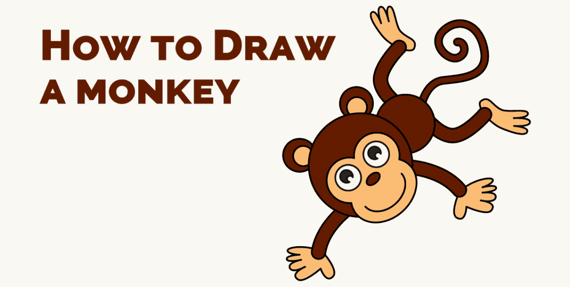 How to Draw a Monkey in Cartoon Style