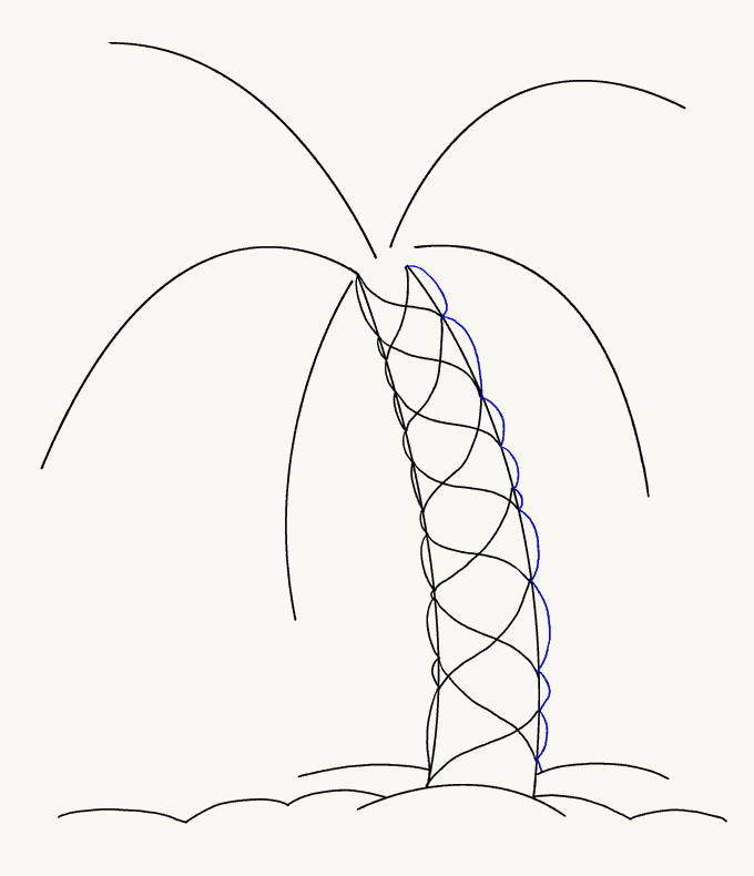 How to Draw Palm Tree: Step 10