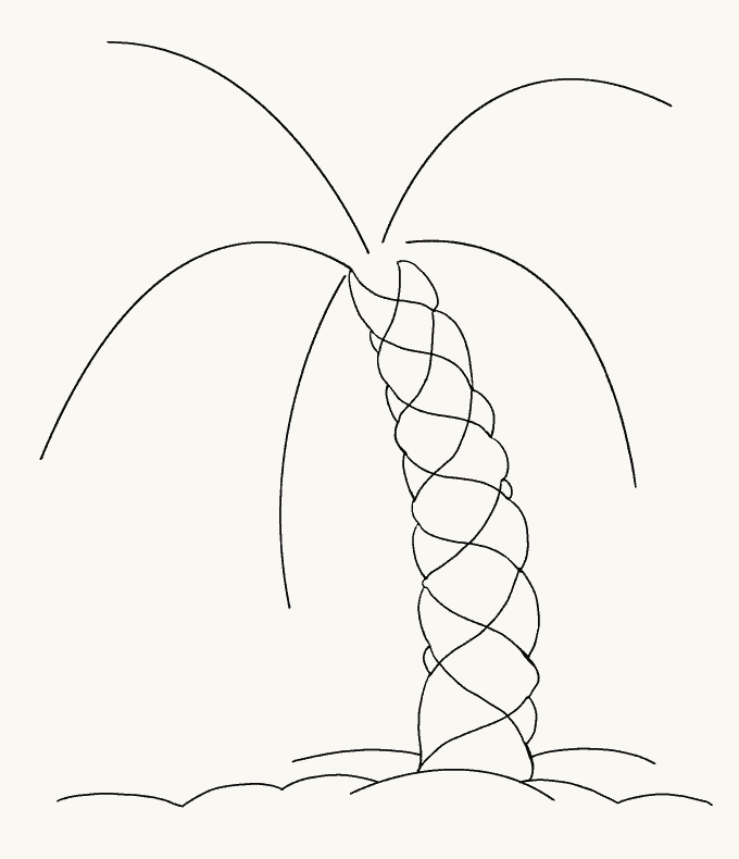 How to Draw Palm Tree: Step 11