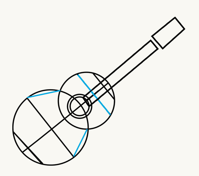 How to Draw an Acoustic Guitar: step 5