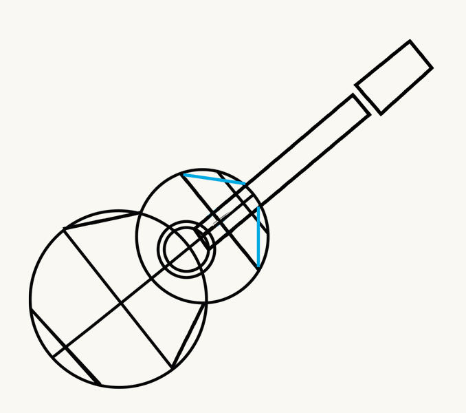 How to Draw an Acoustic Guitar: step 6