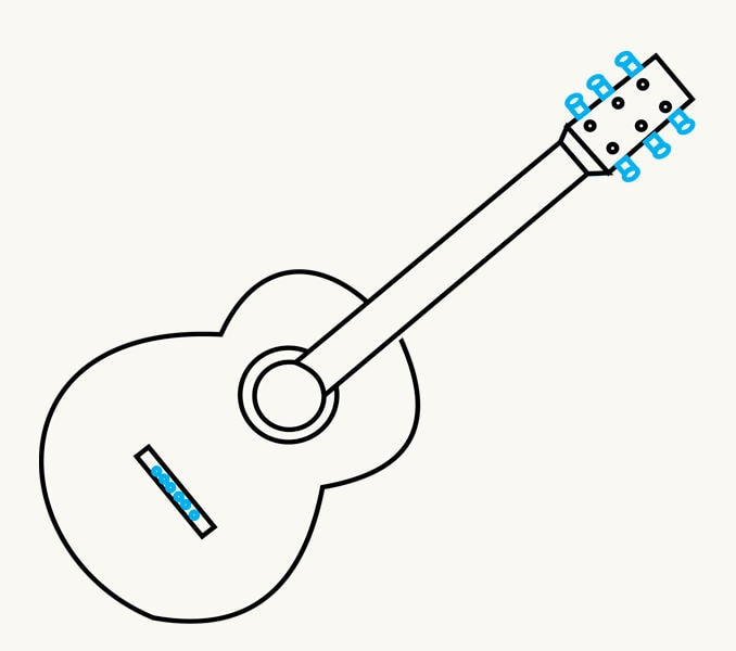 How to Draw an Acoustic Guitar: step 10