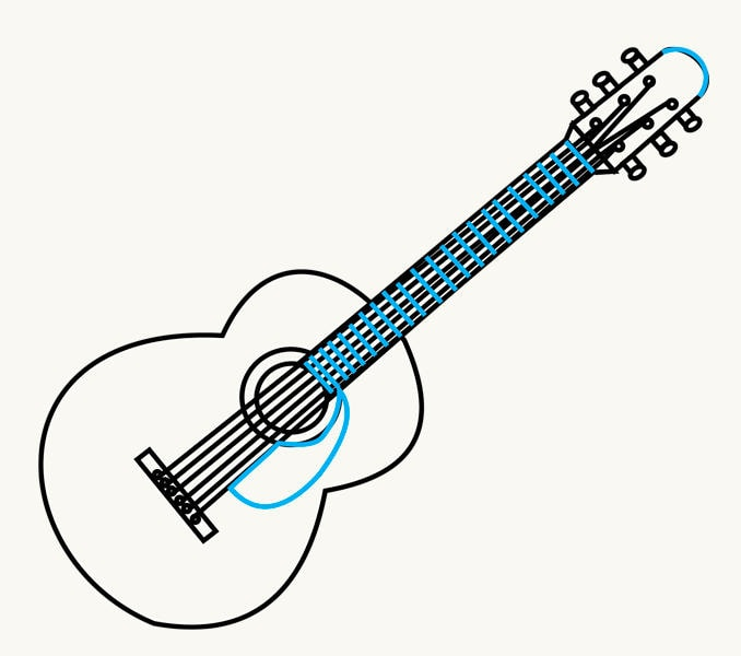 How To Draw A Guitar In A Few Easy Steps Easy Drawing Guides