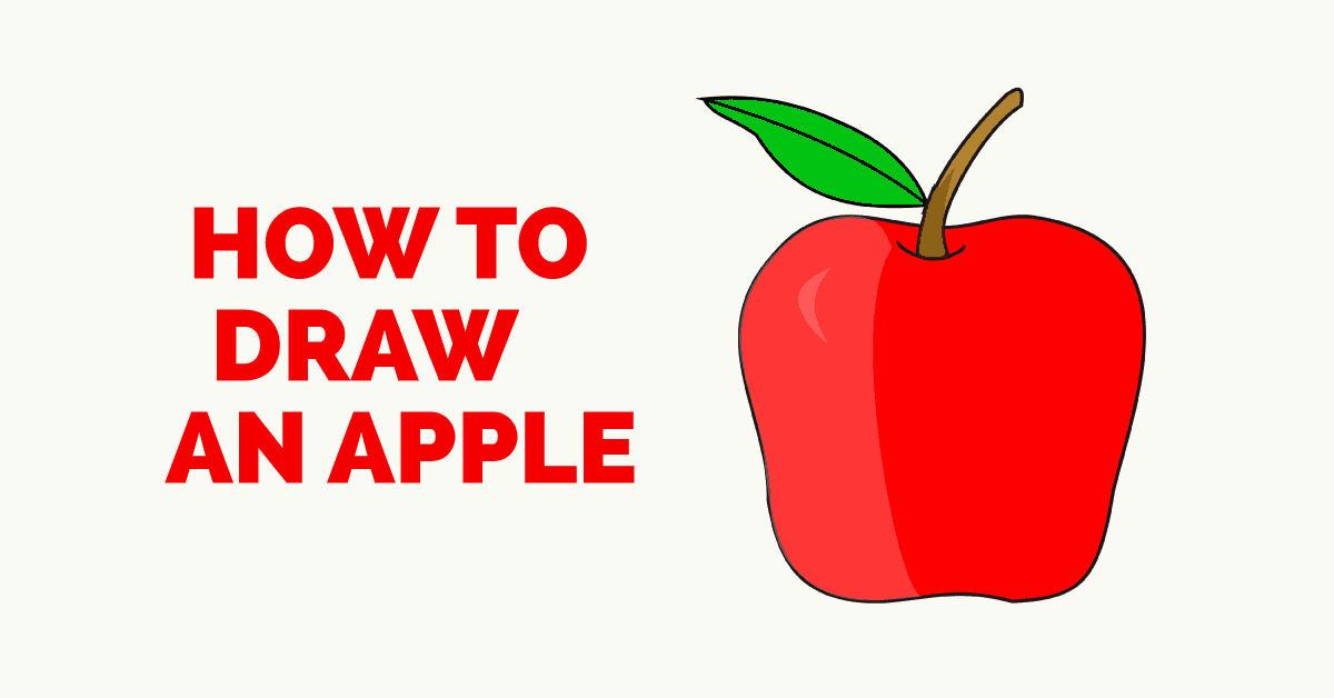 How to Draw an Apple- featured image