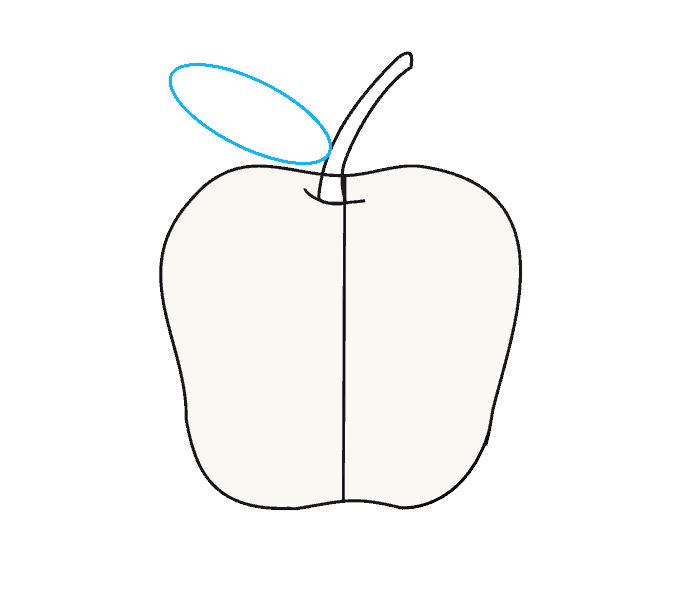 How to Draw Apple: Step 7