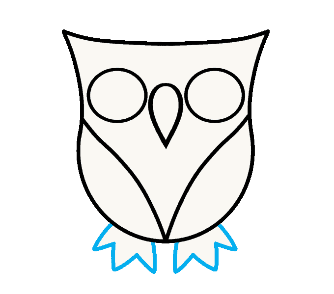How to Draw Owl: Step 6