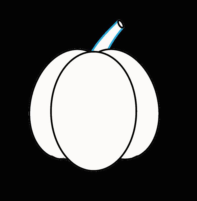 How to Draw Jack O Lantern: Step 4