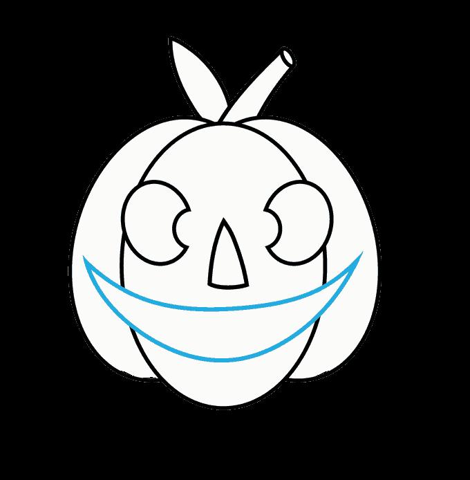 How to Draw Jack O Lantern: Step 9