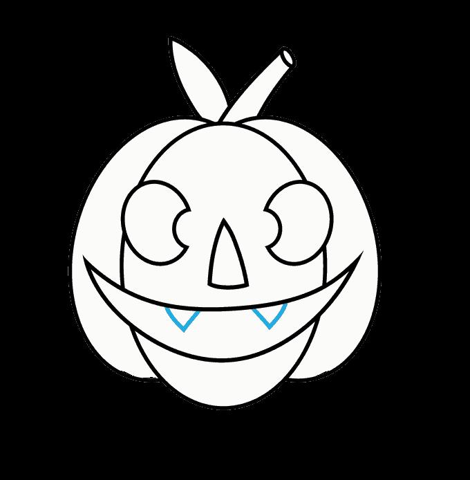 How to Draw Jack O Lantern: Step 10