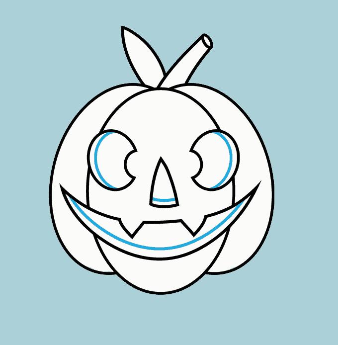 How to Draw Jack O Lantern: Step 11