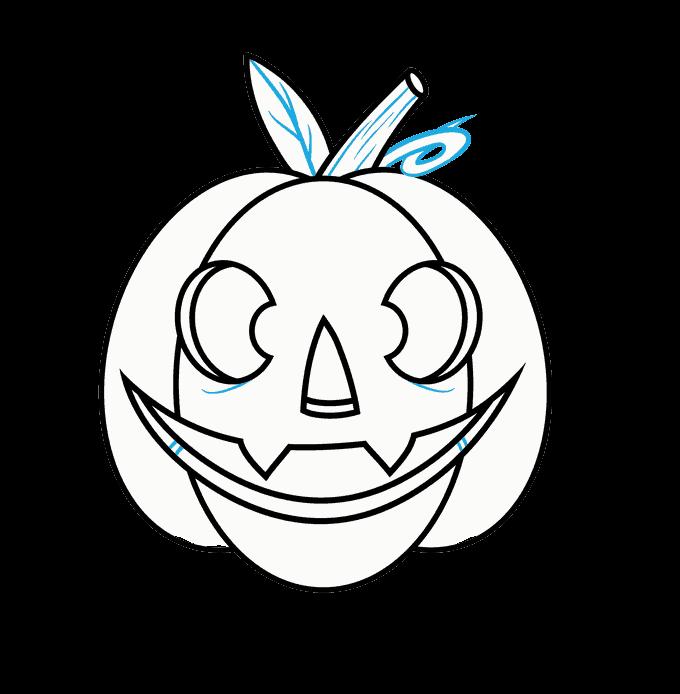 How to Draw Jack O Lantern: Step 12