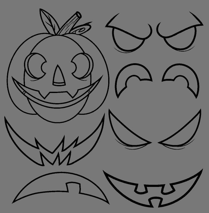 How to Draw Jack O Lantern: Step 13