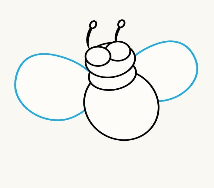 How to Draw Cartoon Bee: Step 7