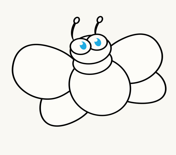 How to Draw Cartoon Bee: Step 9