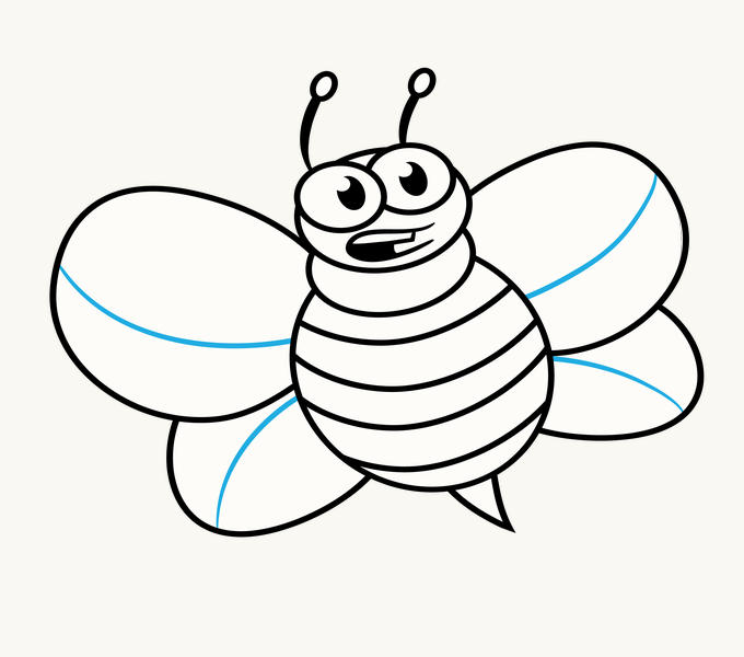 How to Draw Cartoon Bee: Step 13