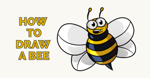 How to Draw a Bee- featured image