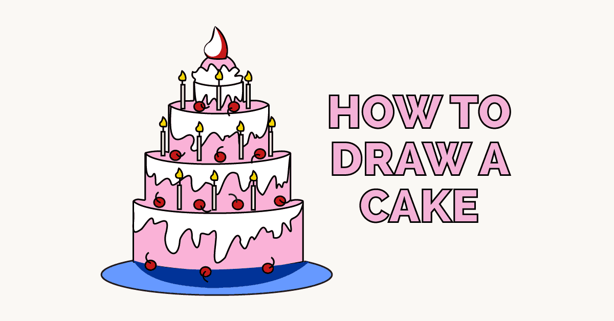 How to Draw a Cake | Easy Drawing Guides