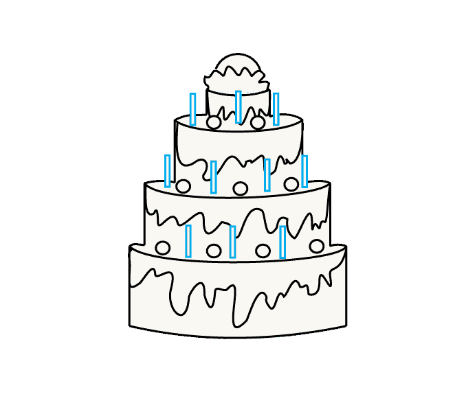 How to Draw Cake: Step 8