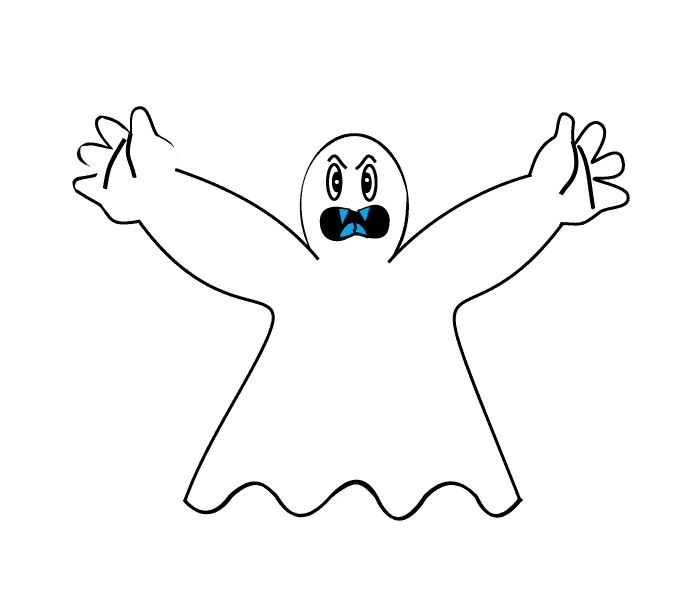 How to Draw Ghost: Step 9