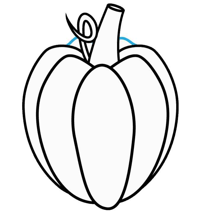 How to Draw Pumpkin: Step 7