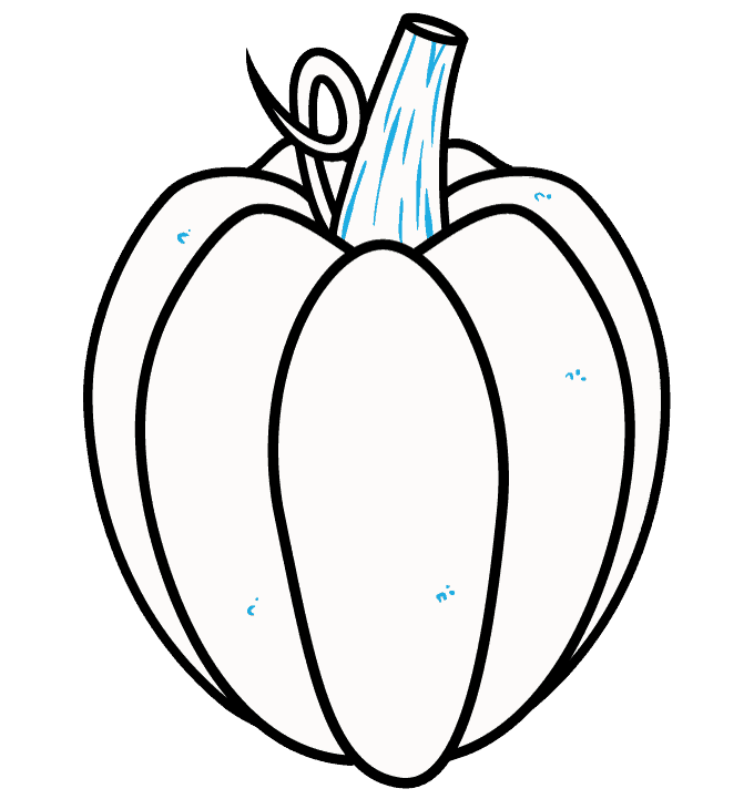 How to Draw Pumpkin: Step 8
