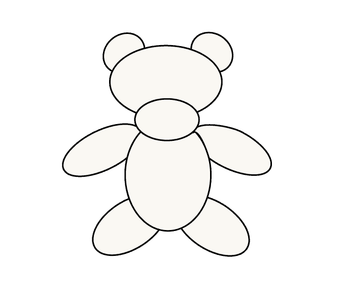 How to Draw Teddy Bear: Step 6