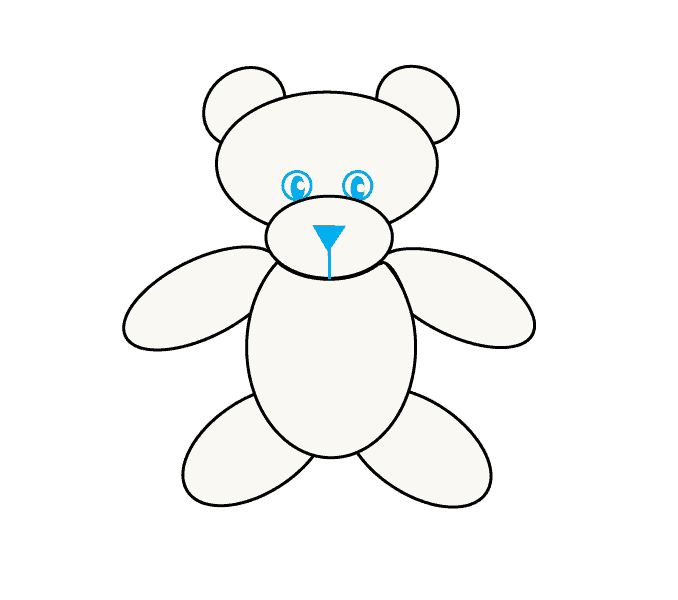 How to Draw Teddy Bear: Step 7