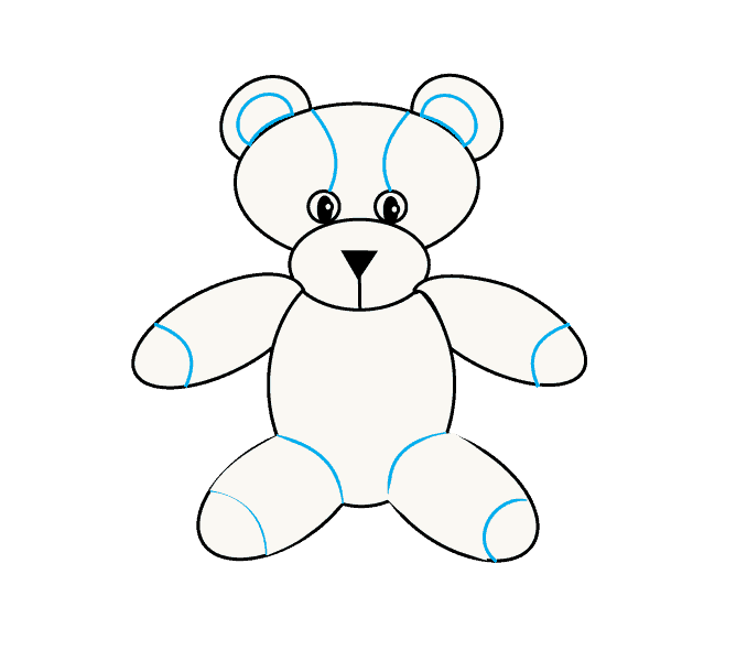 How to Draw Teddy Bear: Step 8