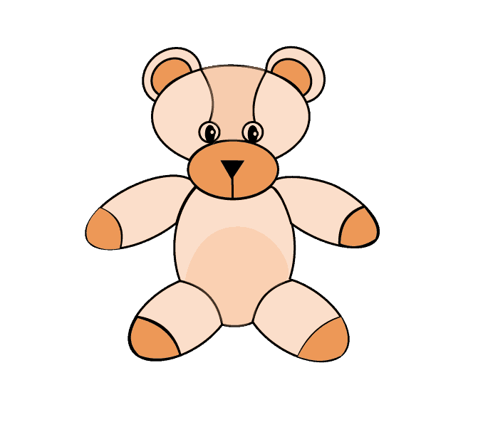 How to Draw Teddy Bear: Step 9