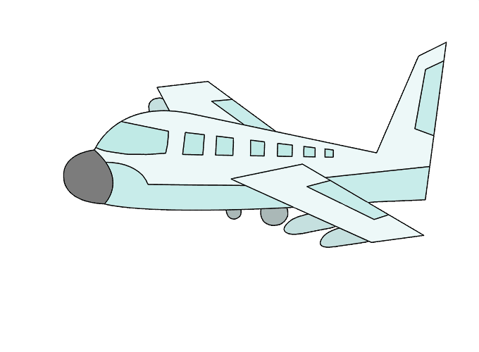 How to Draw Plane: Step 21
