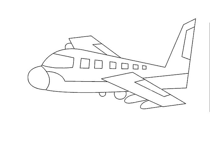 How To Draw An Airplane Easy Drawing Guides