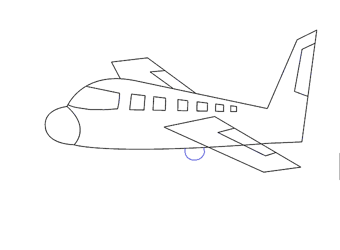 How to Draw Plane: Step 15