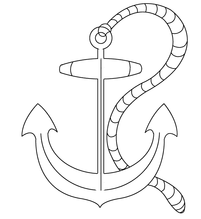 How to Draw Anchor: Step 20