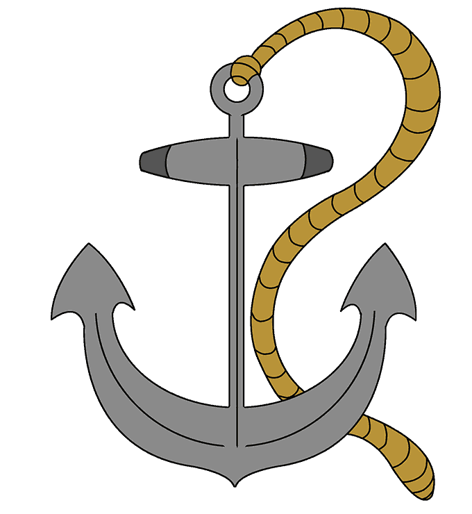 How to Draw Anchor: Step 21