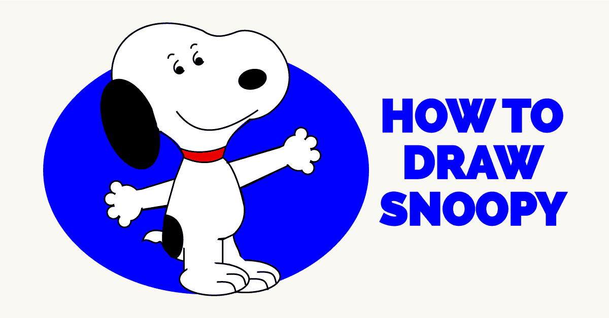 How to Draw Snoopy from Peanuts - featured image