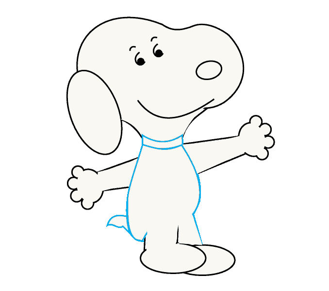 How to Draw Snoopy: Step 13