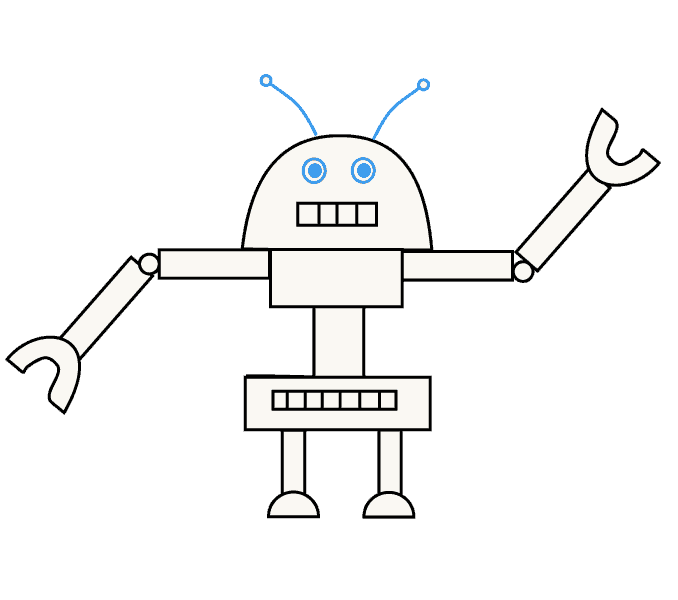 How to Draw a Robot: Step 10