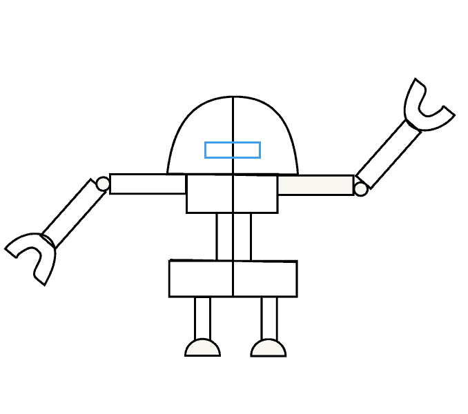 How to Draw Robot: Step 8