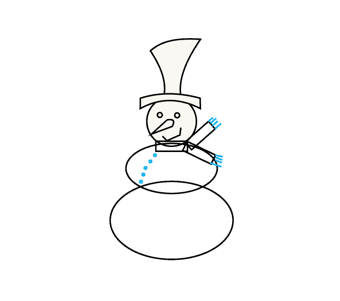 How to Draw Snowman: Step 8