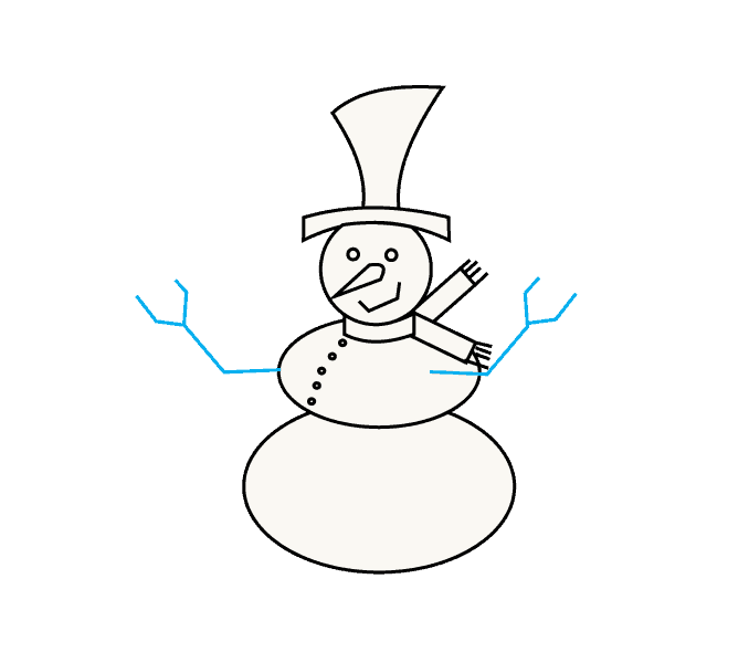 How to Draw Snowman: Step 9