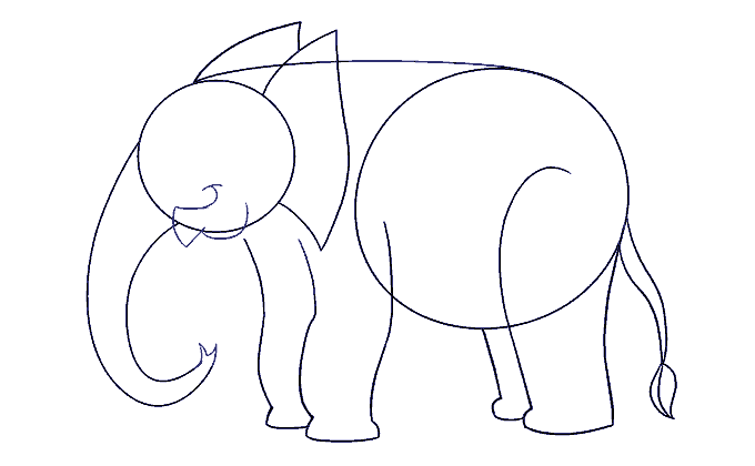 How to Draw Elephant: Step 11