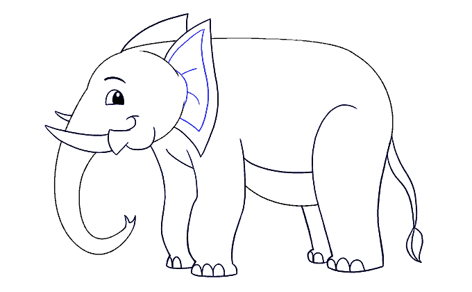 How to Draw Elephant: Step 17