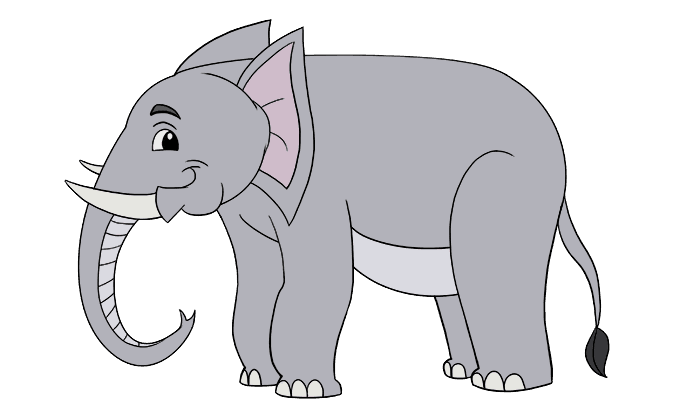 How to Draw Elephant: Step 20