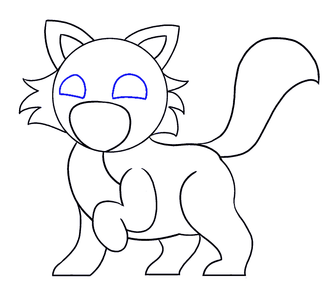 How to Draw Cartoon Cat: Step 13