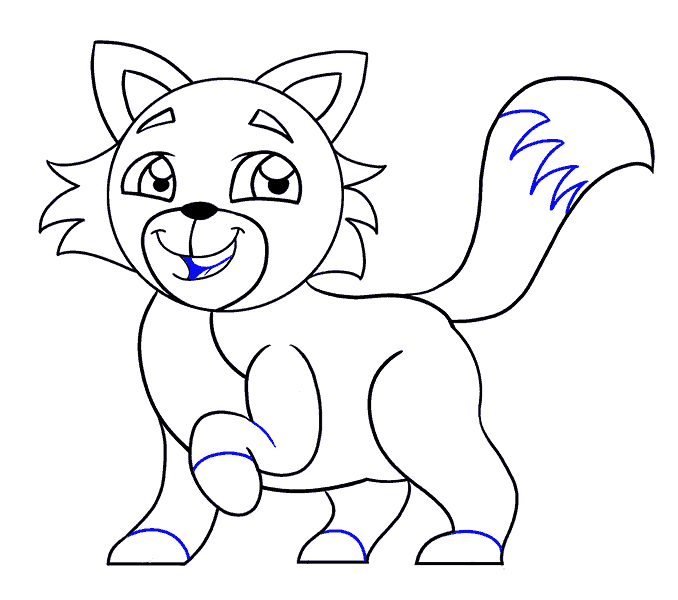 How to Draw Cartoon Cat: Step 17