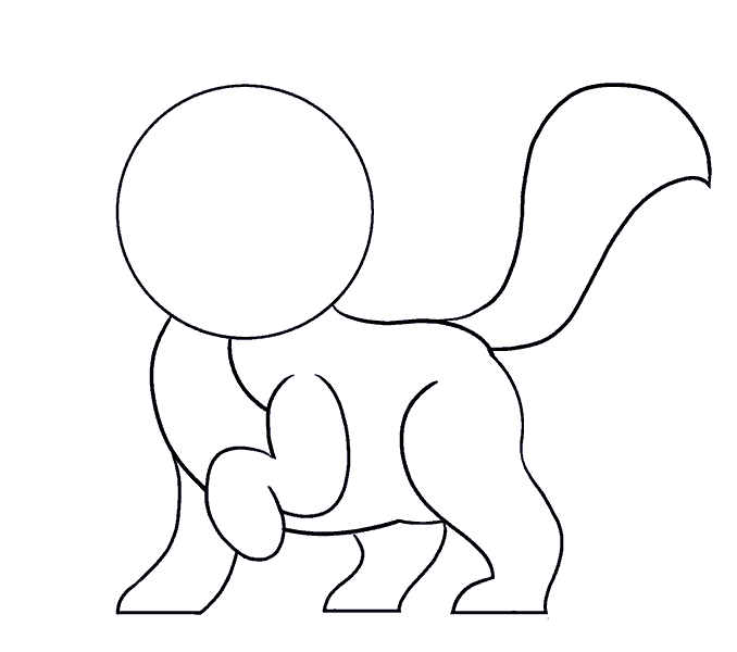 How to Draw Cartoon Cat: Step 8