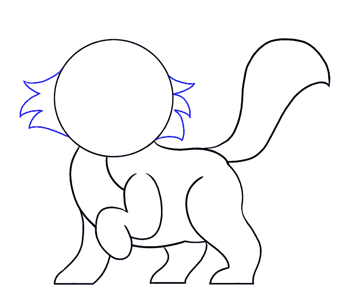 How to Draw Cartoon Cat: Step 9